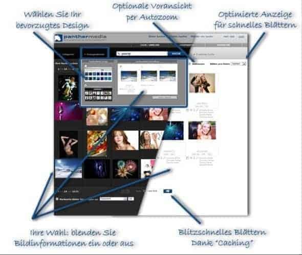 PantherMedia mit neuem Design und neuen Funktionen - Suchseite 1 thumb1