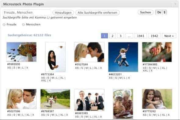 Fotolia Fotos per Microstock Photo Plugin in Ihren Blog integrieren - microstockphoto suche thumb