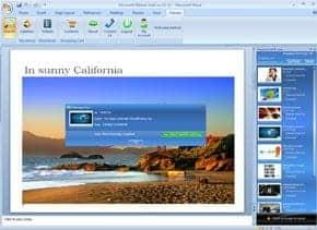 Fotos für PowerPoint und Word per Fotolia Foto Add-In - powerpoint
