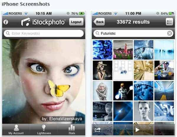 iStockphoto mit eigener iPhone App - istock iphone app