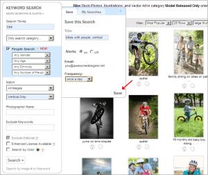 Neue Suchfunktionen bei Shutterstock - savedsearchstep21