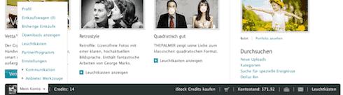 iStockphoto mit neuem Design und 50 Credits zu gewinnen - footer istockphoto