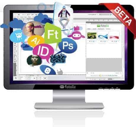 Fotolia veröffentlicht Adobe Creative Suite Plugin für Stock Fotos - adobe plugin main image beta