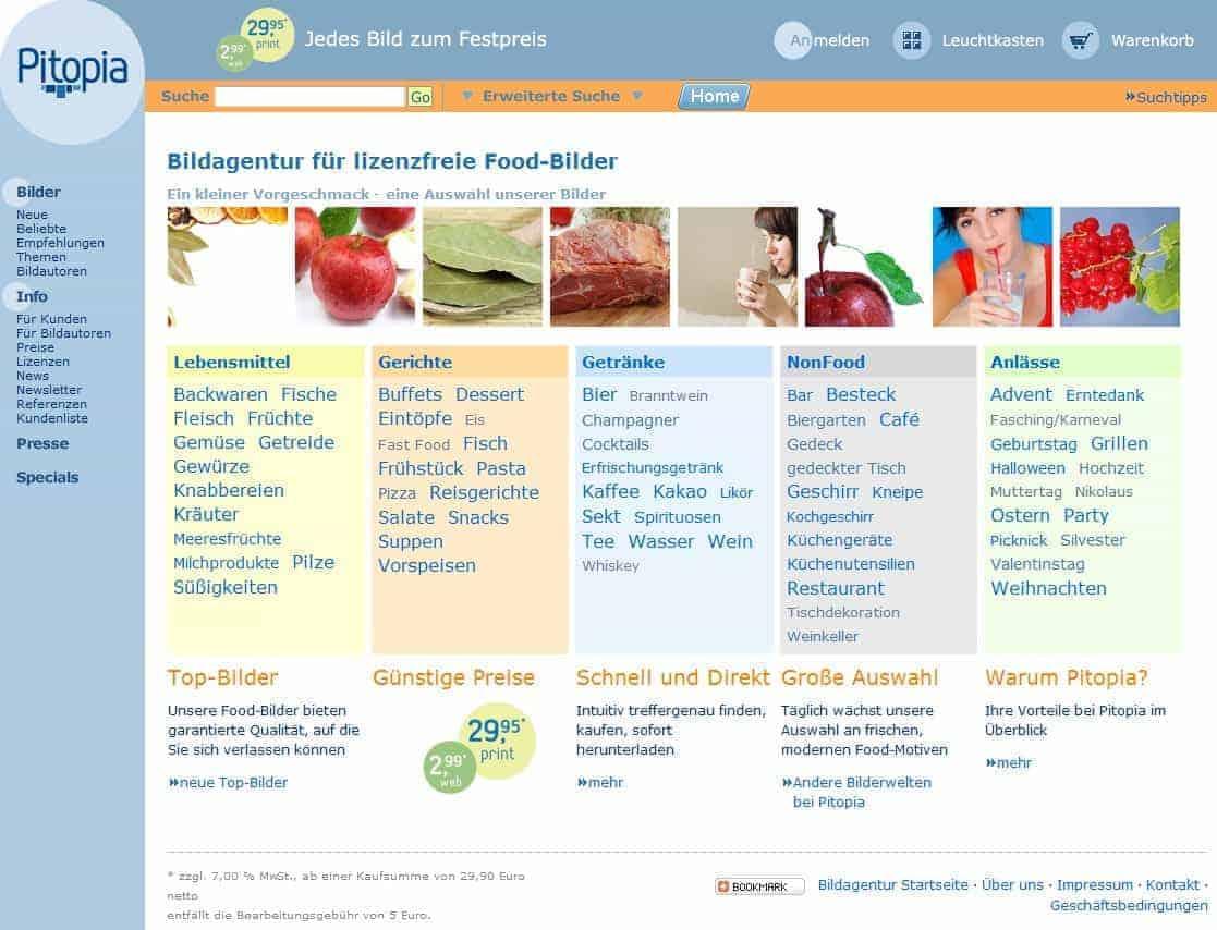 Pitopia Food-Portal