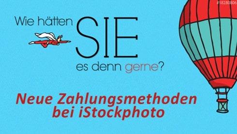 Neue Einzelpreise bei iStockphoto - Bilderkauf ohne Credits ab sofort möglich - istock zahlungsmethoden