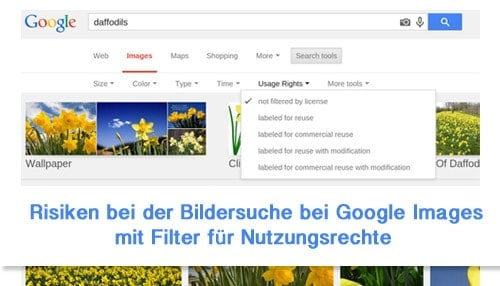 Risiken bei der Bildersuche bei Google Images
