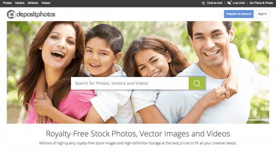 Neue Website von Depositphotos