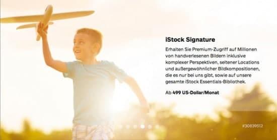 Alles über die iStockphoto Bilder-Abonnements - istock signature1