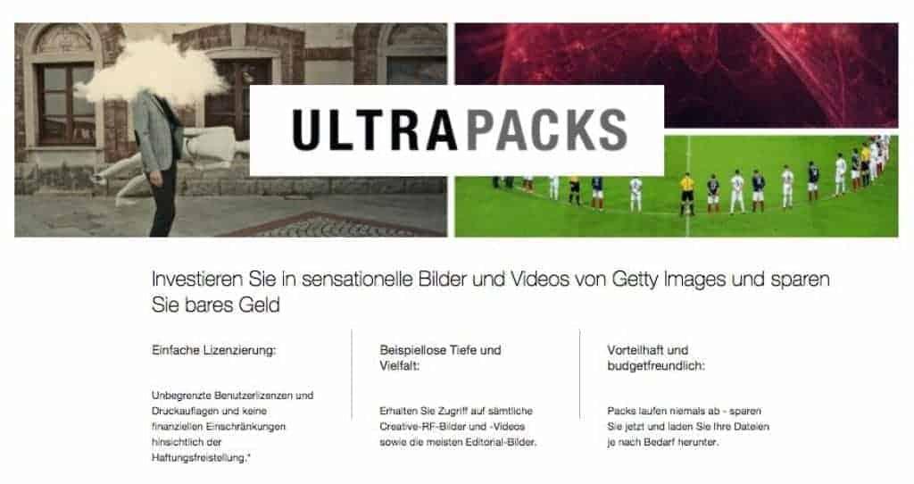 Getty Images erlaubt kostenlose Einbindung von bis zu 35 Millionen Fotos - fotoskaufen getty ultrapacks