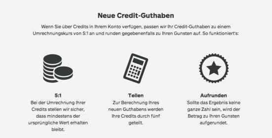 Neues Creditsystem bei iStock