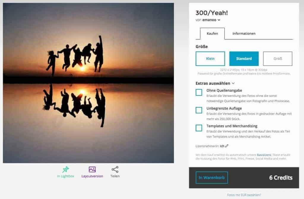 photocase-kauf per credits