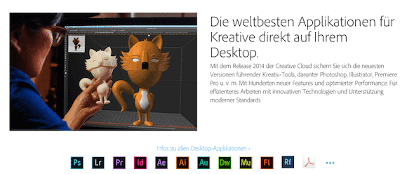 Adobe Creative Cloud Screenshot