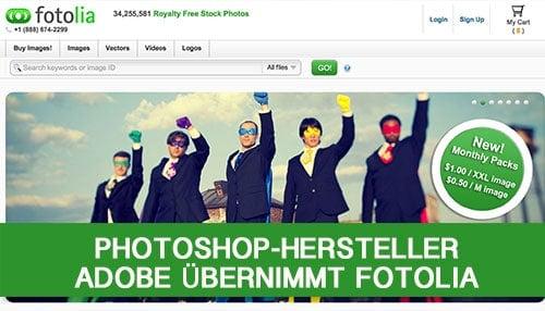 Photoshop-Hersteller Adobe übernimmt Fotolia - adobe fotolia