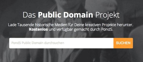 Pond5 bietet 80.000 gemeinfreie Inhalte an - Pond5 PublicDomainProjekt