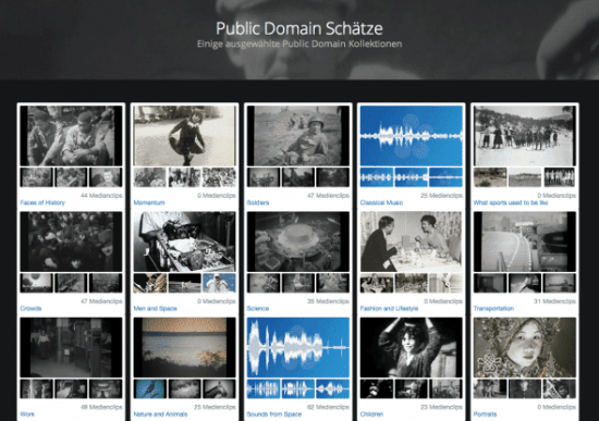 Suchseite für gemeinfreie Inhalte bei Pond5