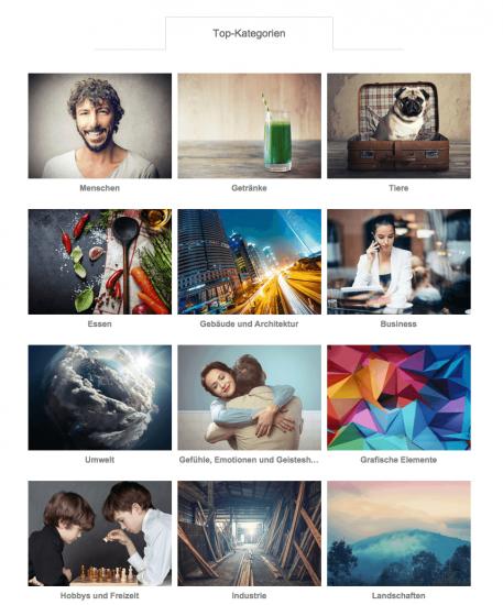 Fotolia-Kategorien