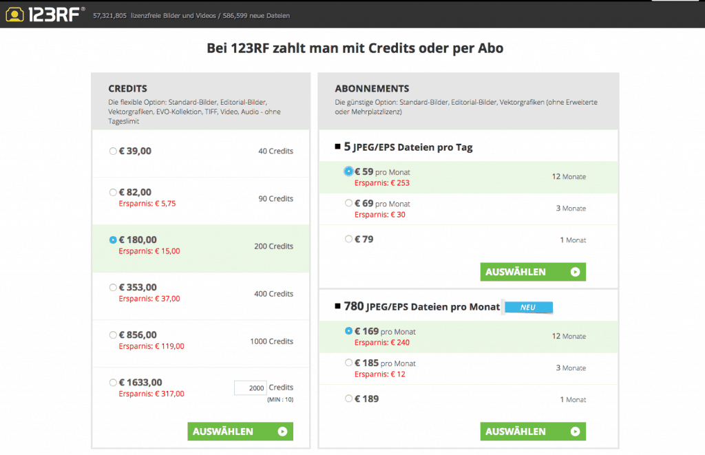 123RF-pricing-list