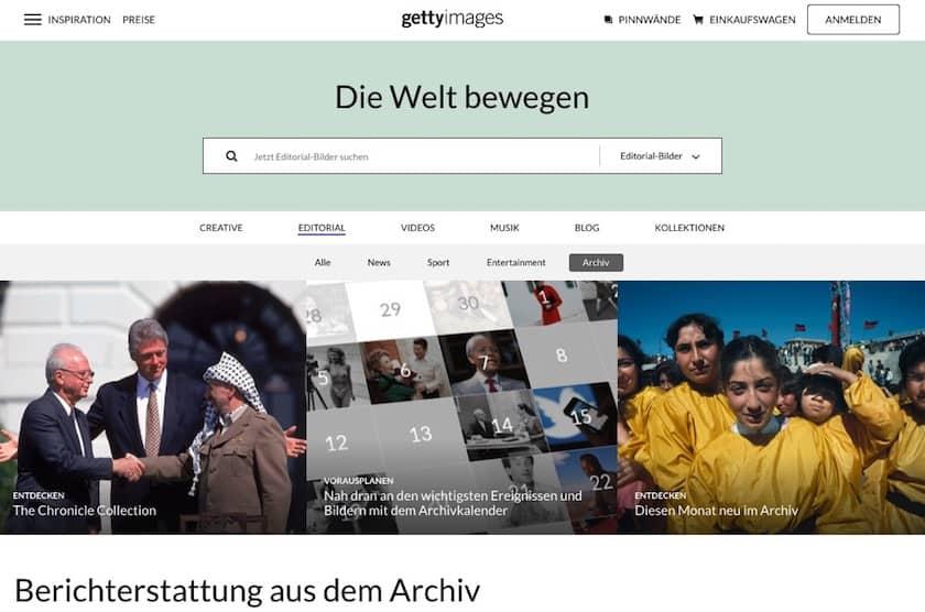 Getty Images Archivefotos und Historische Bilder