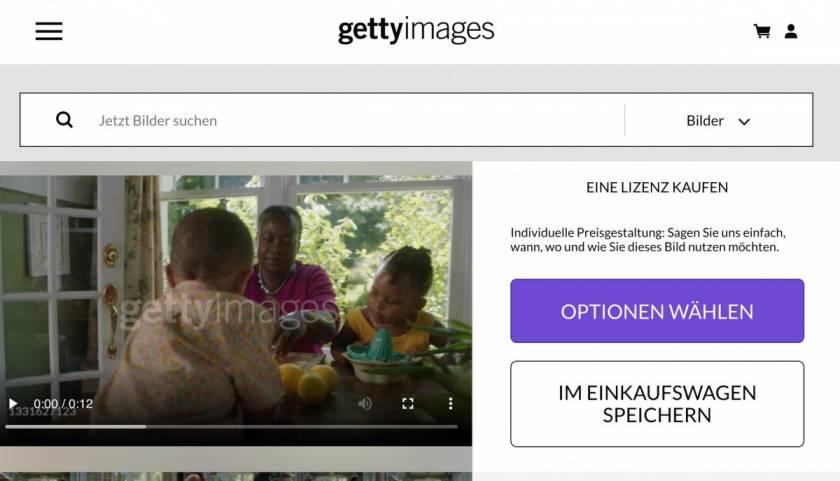 Getty Images Testbericht & Preise - gettyimages video lizenzieren