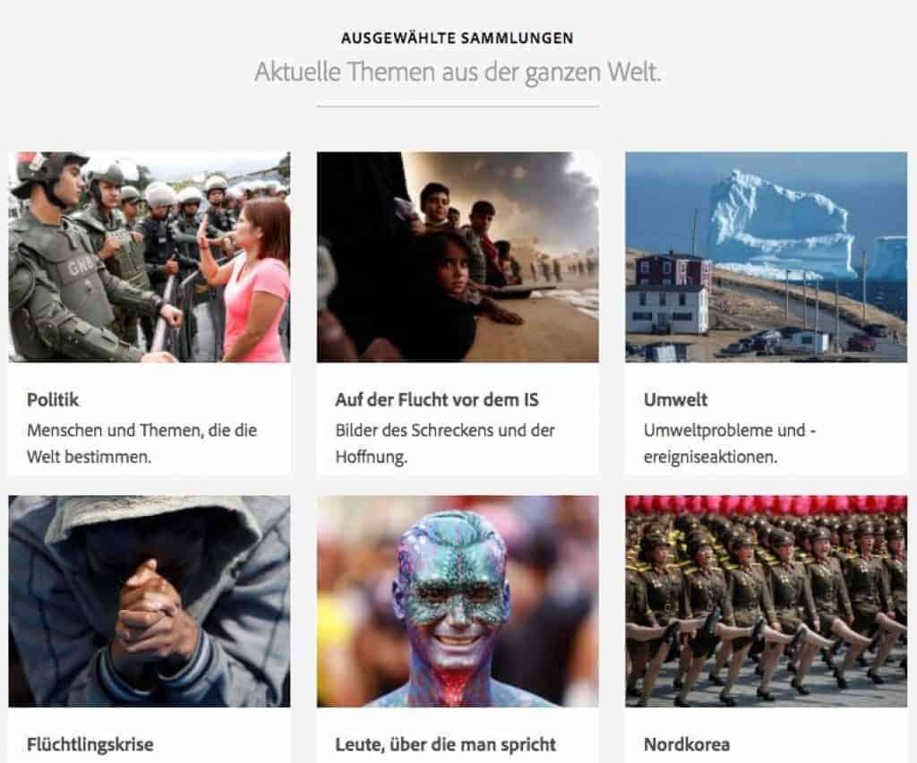 Neue Editorial und Premium Collection bei Adobe Stock! - adobe editorial