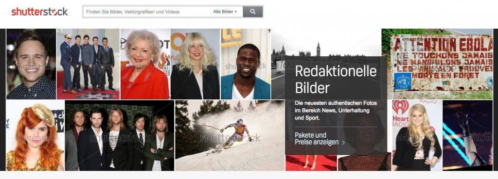 Was sind redaktionelle Bilder und wo kann man sie kaufen? - fotoskaufen shutterstock editorial
