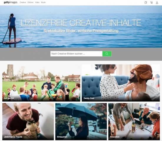 Die fünf besten Bildagenturen, um Premium Bilder zu kaufen! - fotoskaufen getty creative