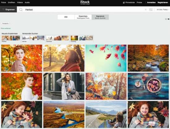 Die fünf besten Bildagenturen, um Premium Bilder zu kaufen! - fotoskaufen iStock signaturebild