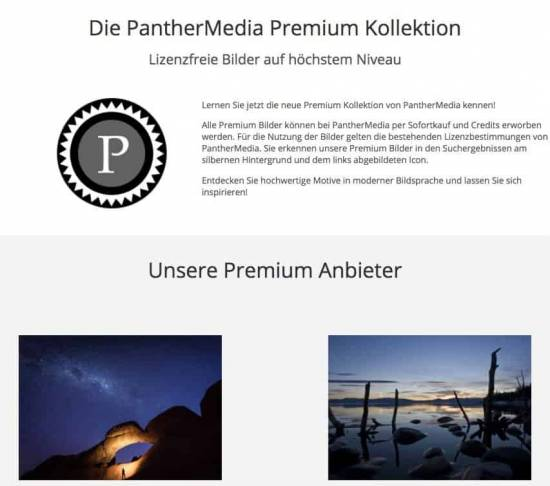 Die fünf besten Bildagenturen, um Premium Bilder zu kaufen! - fotoskaufen panthermedia premium