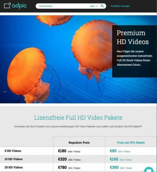 Lizenzfreie Videos und Stock Footage im Überblick - fotoskaufen adpic video preise