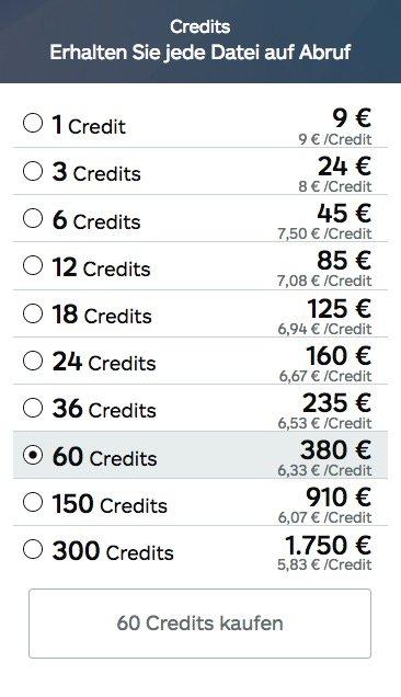 Credit-Pakete von istock