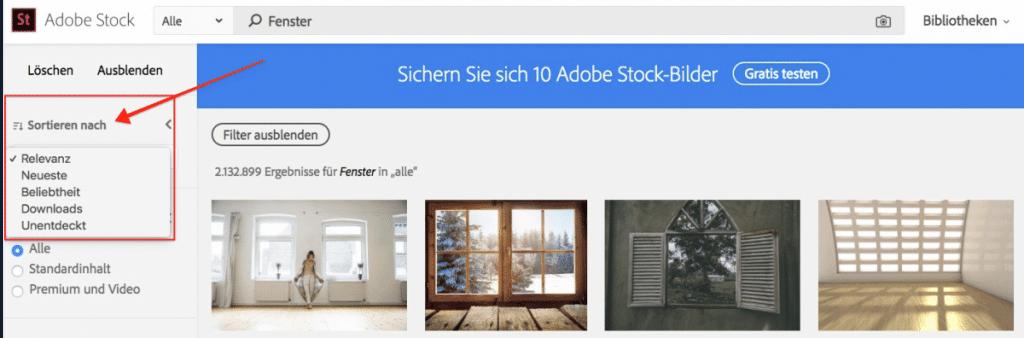 Adobe Stock - fotoskaufen adobestock suchfunktion