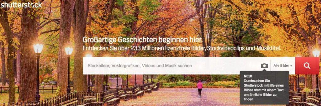 Shutterstock Testbericht, Preise & Erfahrungen - fotoskaufen shutterstock suche perfoto