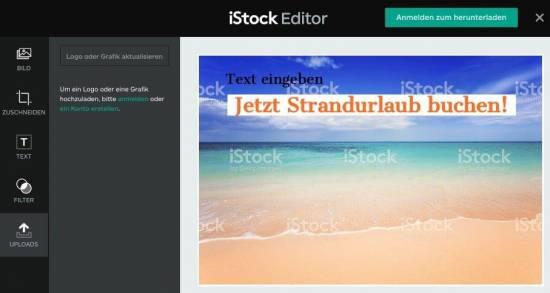 iStock kostenlos - jede Woche iStockphoto Bilder gratis! - fotoskaufen istock beabeitet mit editor