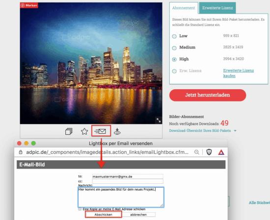 Jetzt neu! Visuelle Bildsuche - besser Bilder finden auf adpic - adpic bild per email senden