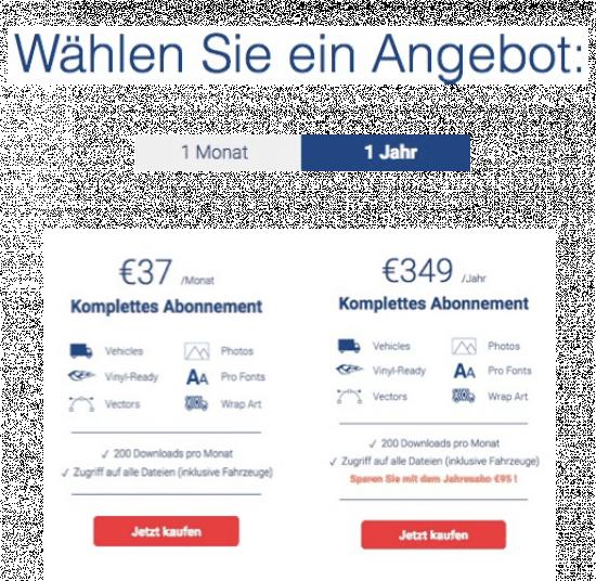 SignSilo - Fahrzeugvorlagen, Grafiken und Fotos für die Beschriftungsbranche - fotoskaufen signsilo abopreis