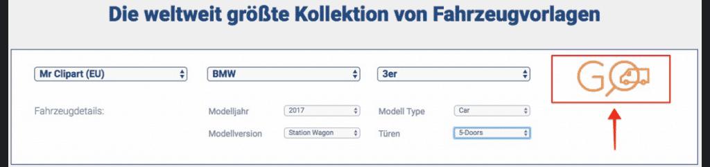 SignSilo - Fahrzeugvorlagen, Grafiken und Fotos für die Beschriftungsbranche - fotoskaufen signsilo fahrzeugvorlage auswahl 1