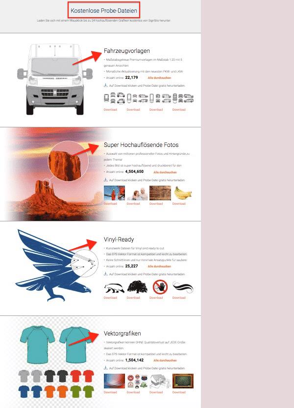 SignSilo - Fahrzeugvorlagen, Grafiken und Fotos für die Beschriftungsbranche - fotoskaufen signsilo probedatei