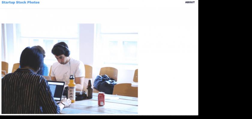 Webseite startupstockphotos