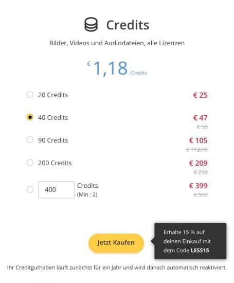123rf Creditpreise