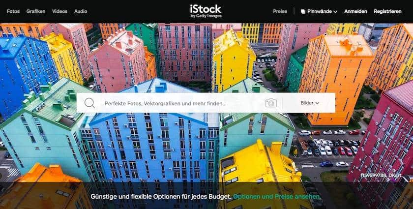 Webseite iStock by Getty Images