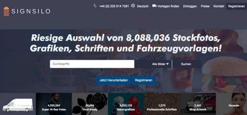 SignSilo Webseite