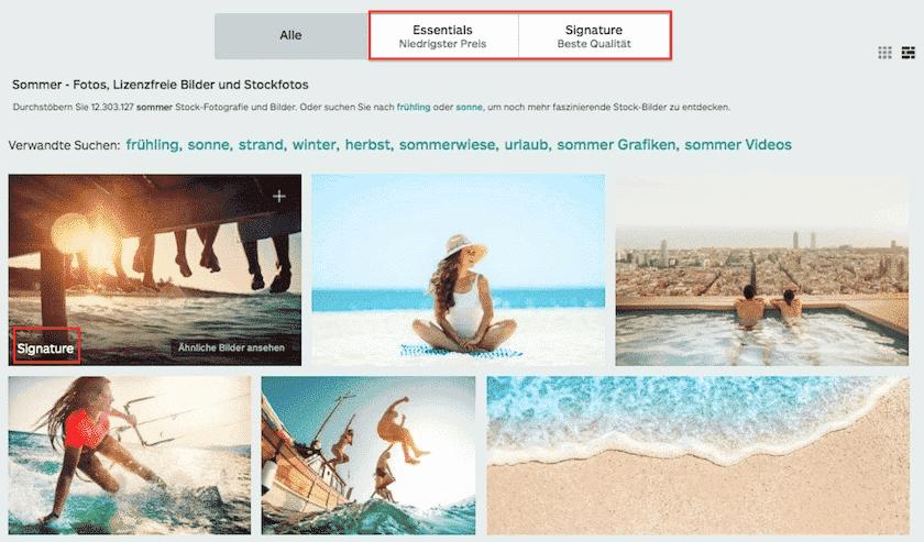 Essentials en Signature iStock