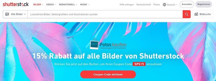 Landingseite Shutterstock für fotoskaufen.de