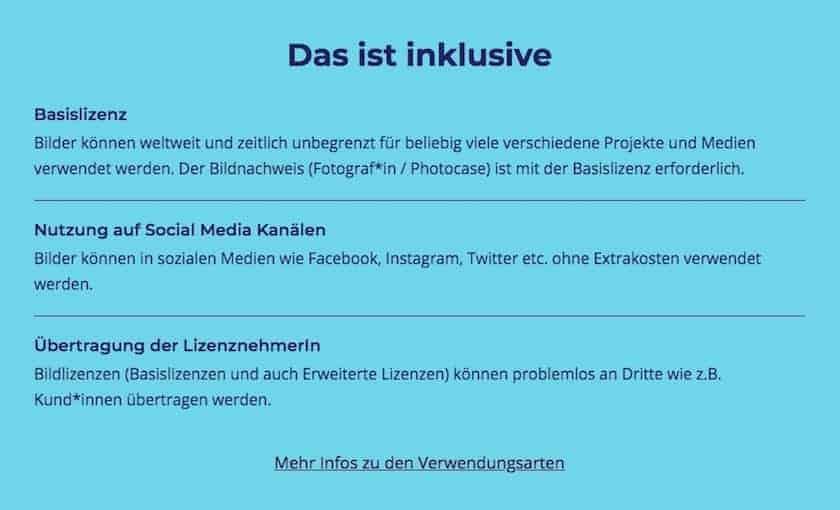 Basislizenz Photocase