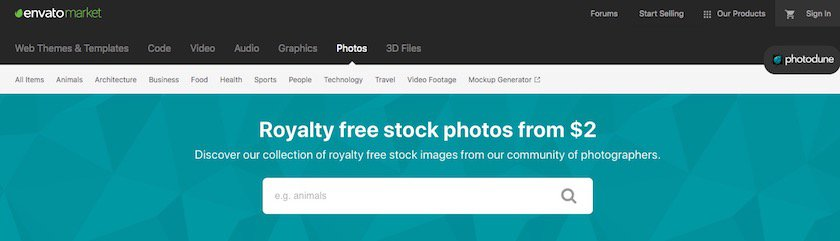 Homepage photodune
