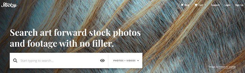 Homepage stocksy