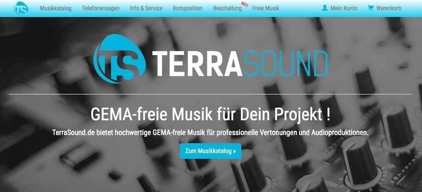 Webseite von TerraSound