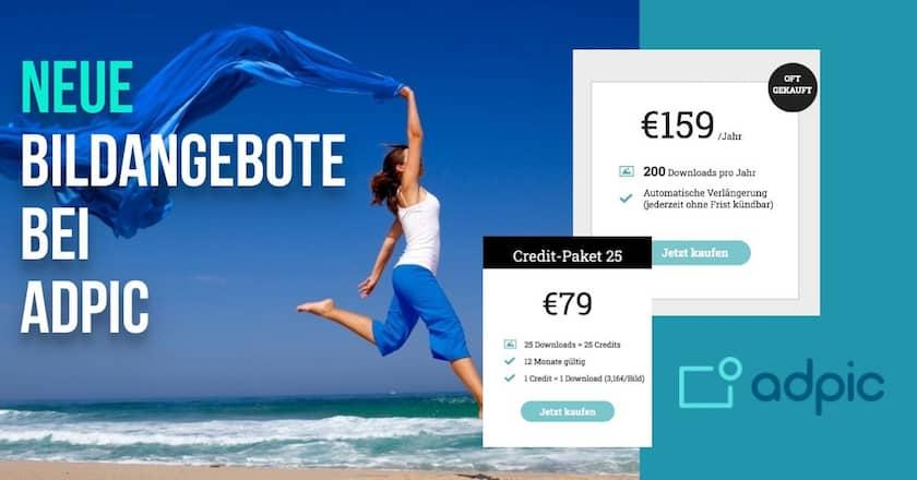 Neue Credit-Pakete & Bild-Abos bei adpic - günstige Bilder für jeden Bedarf! - adpic neue bildangebote