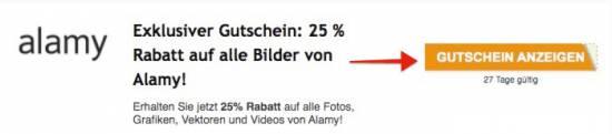 Alamy Gutschein auf fotoskaufen.de