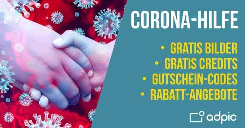 Corona-Hilfe: Kostenlose Bilder & Credits, Gutscheine und Rabatt-Angebote! - fotoskaufen cohilfe